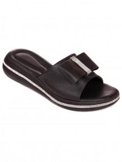 Papuci cu panglică - negru