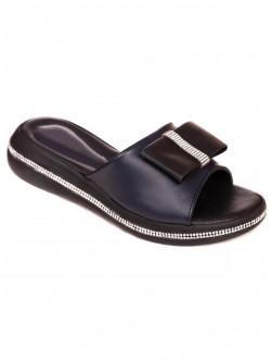 Papuci cu o panglică - albastru închis