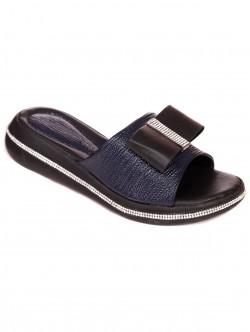 Papuci brevetate cu o panglică - albastru