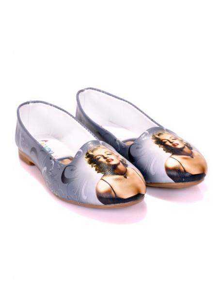 Pantofi dama Merlin gri
