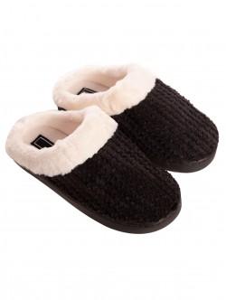 Papuci negri pentru femei
