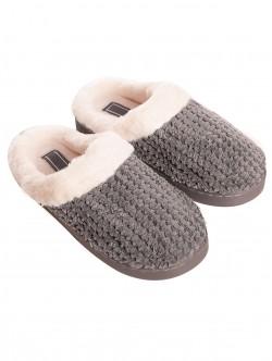 Papuci gri pentru femei