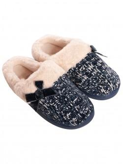 Papuci de dama tricotati - albastru