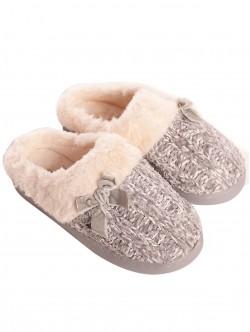 Papuci de tricotat pentru femei - gri