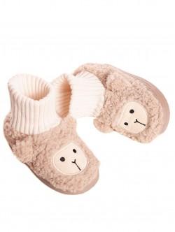 Papuci pentru copii bej pentru acasă