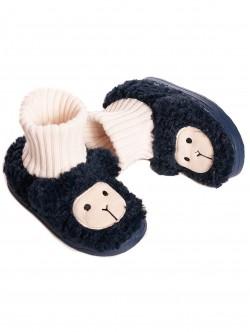 Papuci albaștri pentru copii pentru casă
