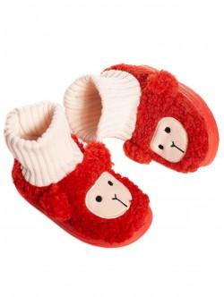 Papuci roșii pentru copii pentru casă