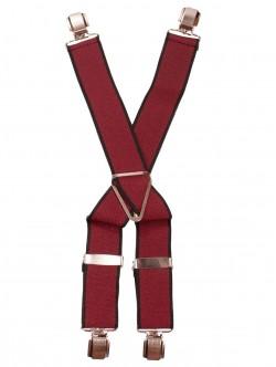 Bretele cu 4 cleme - roșu