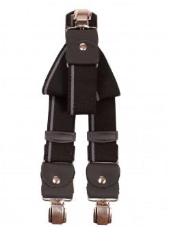 Bretele largi - cu dungi negre și gri