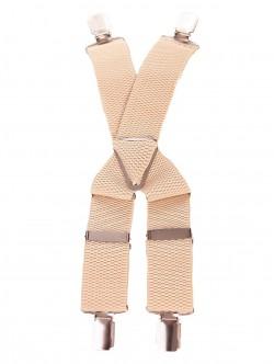 Bretele pentru pantaloni - ecru