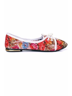 Pantofi Olga rosu