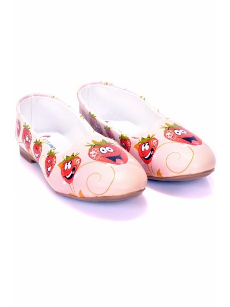 Pantofi de dama cu capsuni