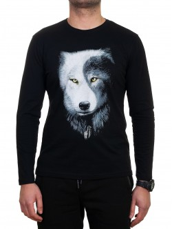 Bluză bărbătească cu lup
