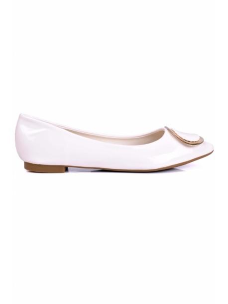 Pantofi Stasy in alb