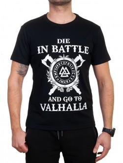 Tricou bărbătesc negru Valhalla