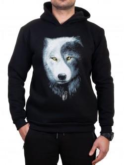 Hanorac pentru bărbați cu lup