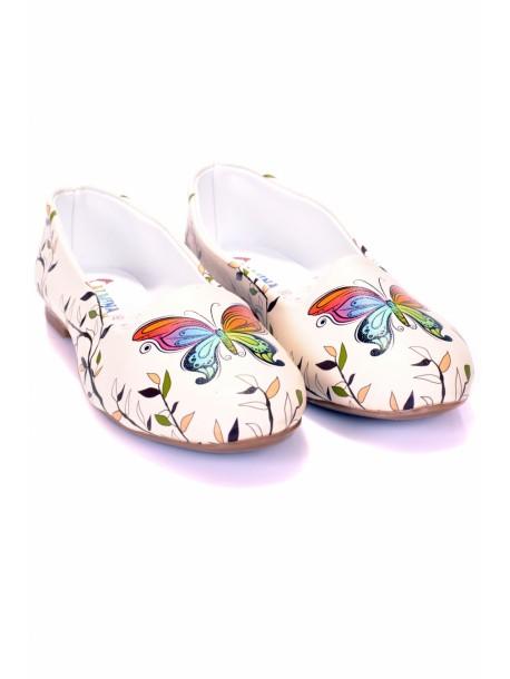 Pantofi de dama cu fluturi