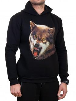 Hanorac pentru bărbați cu imprimeu de lup