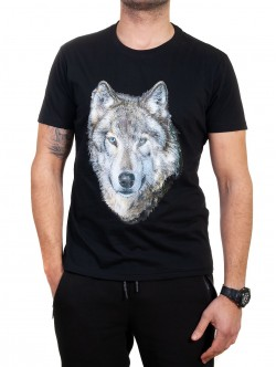 Tricou pentru bărbați cu imprimeu de lup