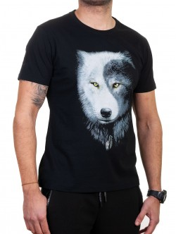 Tricou bărbătesc cu lup