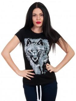 Tricou pentru femei cu lup
