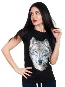 Tricou de damă cu imprimeu lup