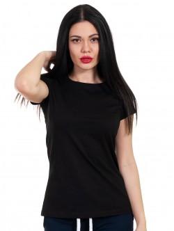 Tricou de dama negru cu mâneci scurte