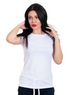 Tricou alb de femei cu mâneci scurte