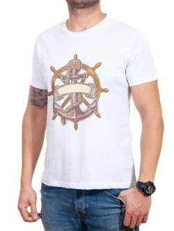 Tricou alb de marinar