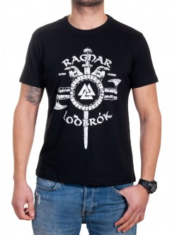 Tricou bărbătesc cu imprimeu Ragnar