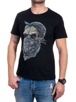 Tricou bărbătesc cu mânecă scurtă cu craniu
