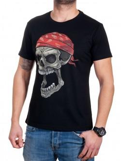 Tricou bărbătesc din bumbac cu craniu