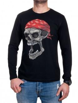 Bluză de bumbac pentru bărbați cu mâneci lungi