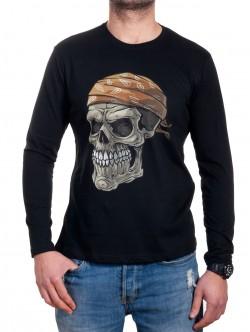 Bluză bărbătească cu craniu