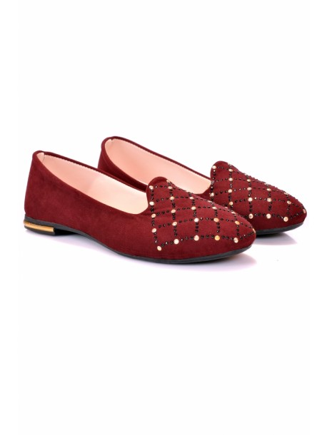 Pantofi Vili bordo