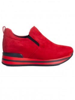 Cizme roșii cu tălpi înalte