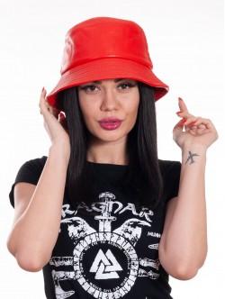 Pălărie pentru femei cu periferie - roșie