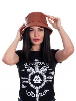 Pălărie pentru femei cu periferie - maro