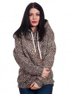 Hanorac de dama leopard cu urechi