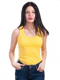 Top de damă de culoare galben simplu
