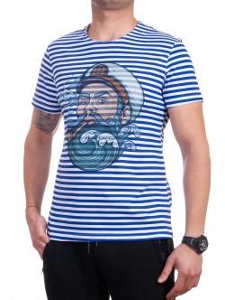 Tricou bărbătesc cu dungi cu un marinar