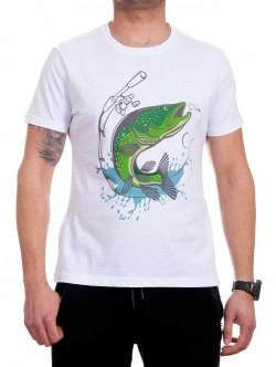 Tricou bărbătesc cu pește verde