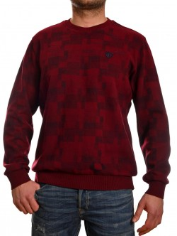 Pulover bărbătesc în roșu