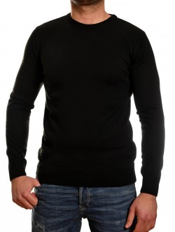 Pulover bărbătesc montat în negru