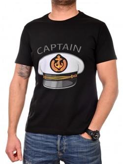 Tricou de căpitan negru pentru bărbați