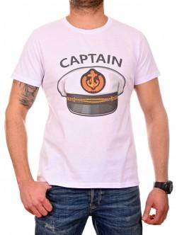 Tricou alb de căpitan pentru bărbați