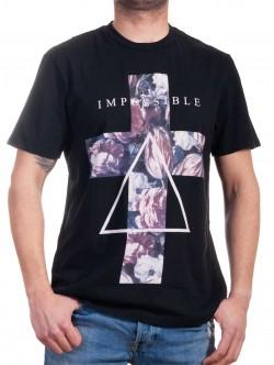 Tricou bărbătesc negru cu imprimeu