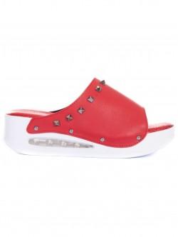 Papuci ortopedici pentru femei de culoare roșie