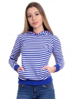 Bluză de damă cu glugă și buzunare