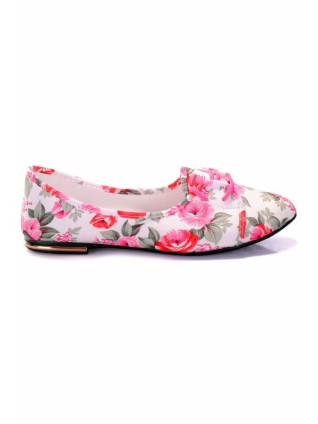 Pantofi Moni alb si roz